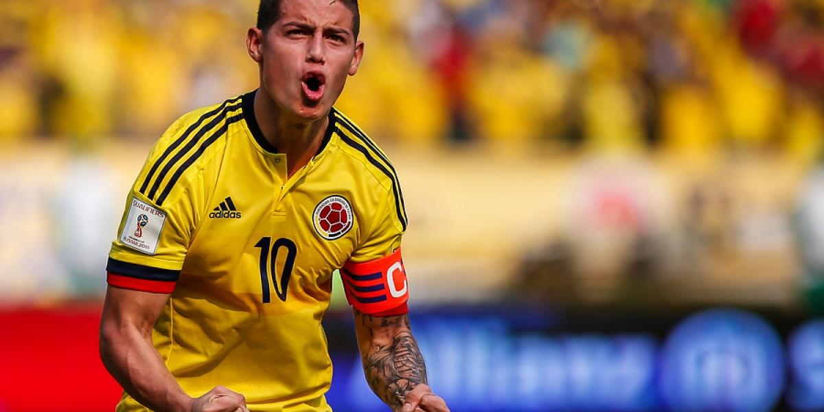 James Rodríguez, jugador de la Selección Colombia.