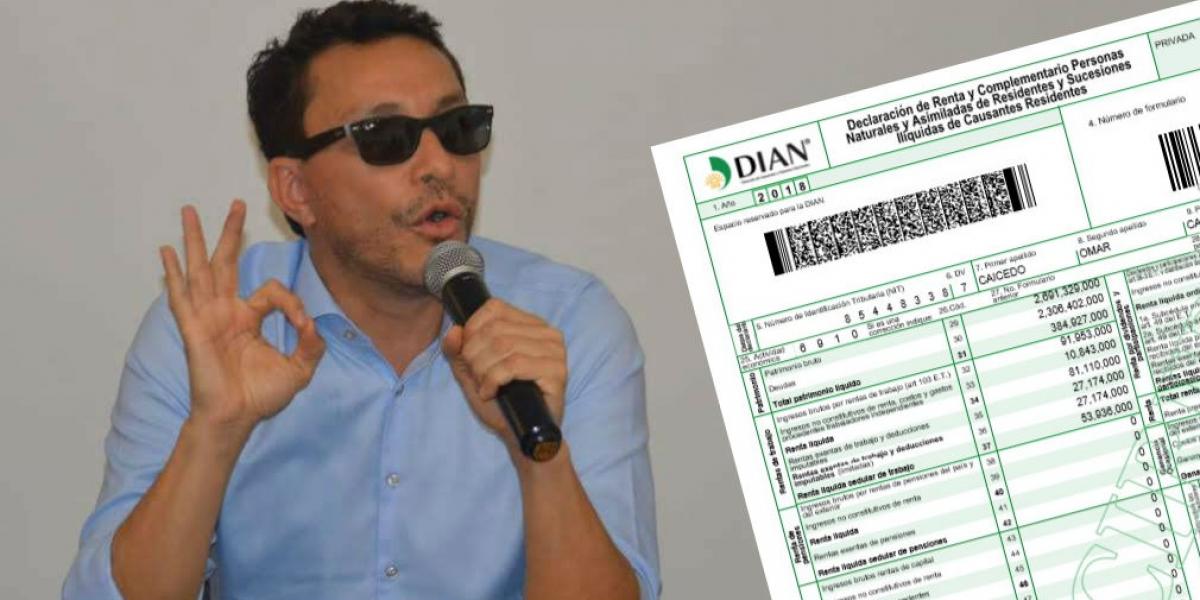 Declaración de renta de Carlos Caicedo, Gobernador del Magdalena.