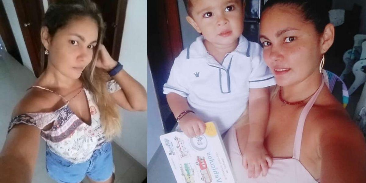 Haillen María Duarte Beleño y su hijo de 2 años. (foto autorizada por su familia para contribuir en su búsqueda).