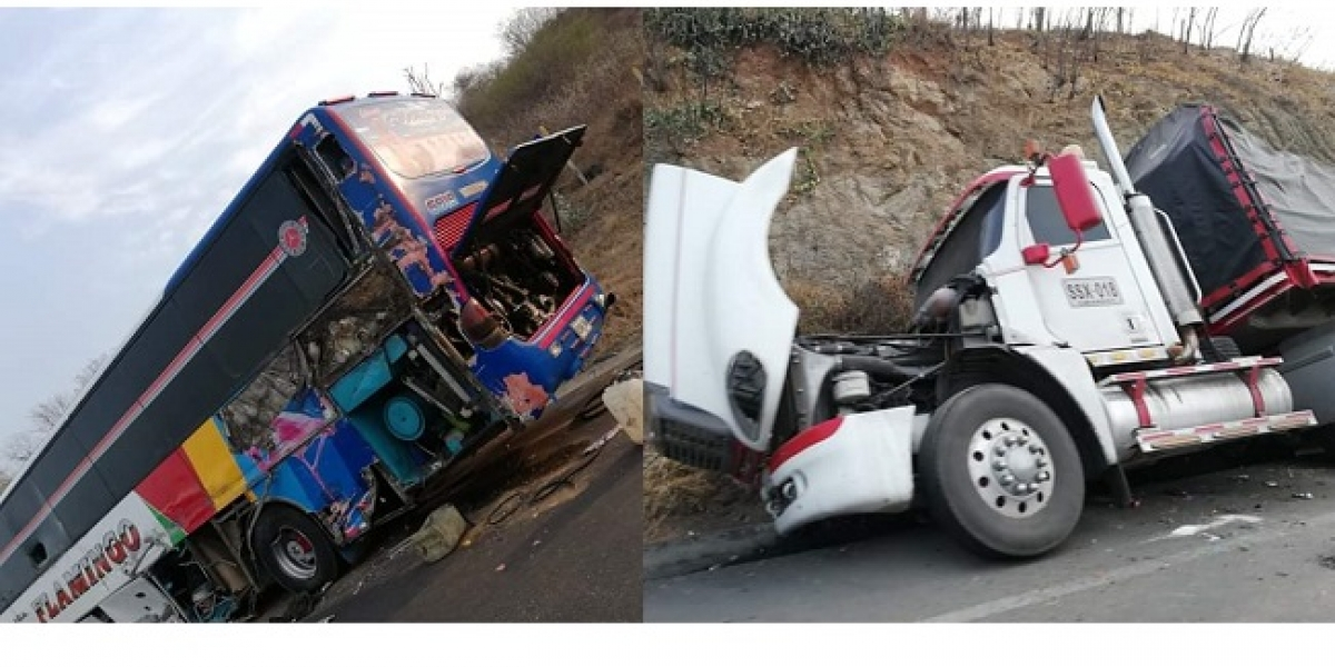 El accidente se registró a la altura de Puerto Drummond.