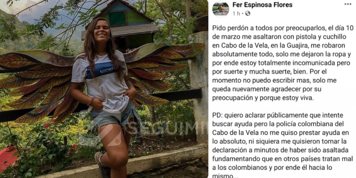 Este texto lo publicó la chilena en sus redes sociales.