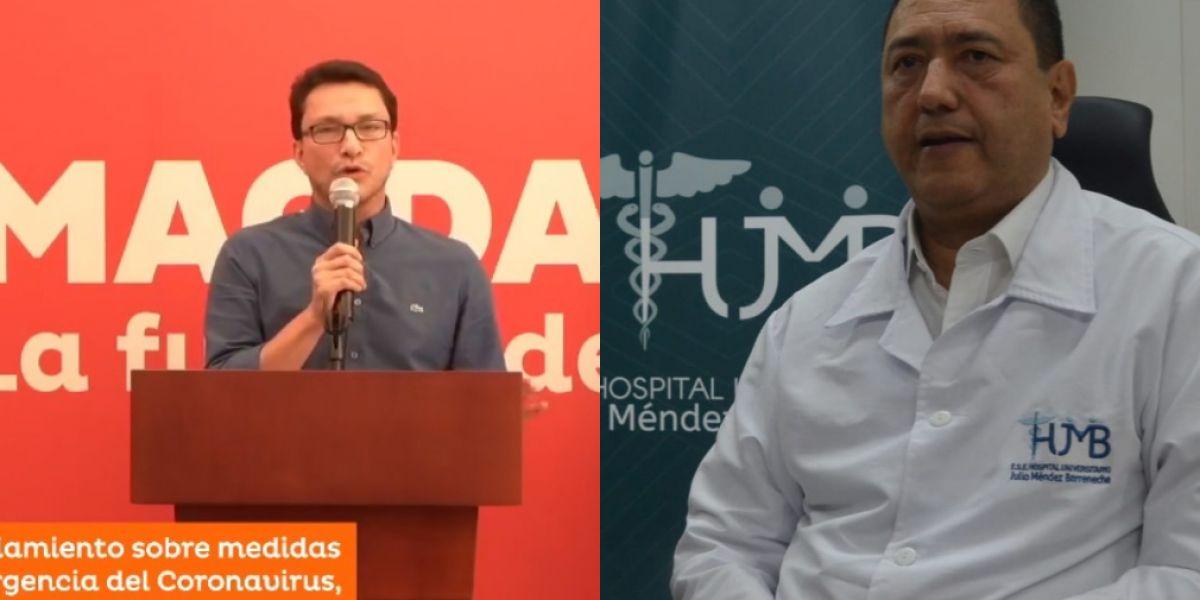 El gobernador y el gerente del 'Julio Méndez' nuevamente protagonizan una polémica, esta vez por recursos de estampillas.