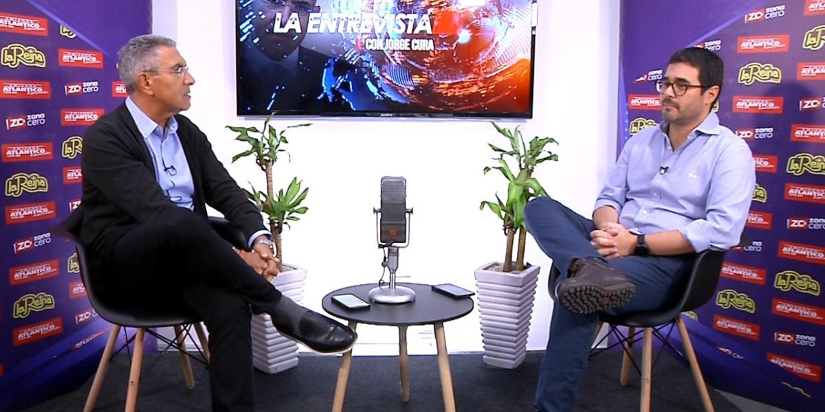 Entrevista el secretario de Gobierno de Barranquilla, Clemente Fajardo.