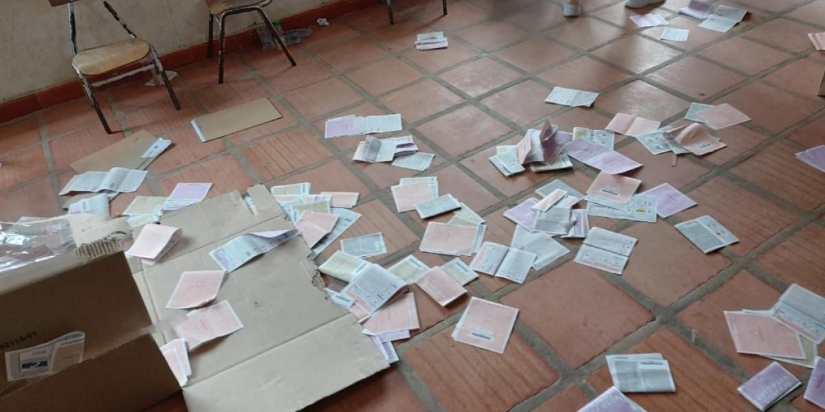 En este municipio se presentaron alteraciones del orden público que ocasionaron la destrucción de documentos electorales y el incendio de la sede de la Registraduría, lo que generó que el proceso electoral se suspendiera.