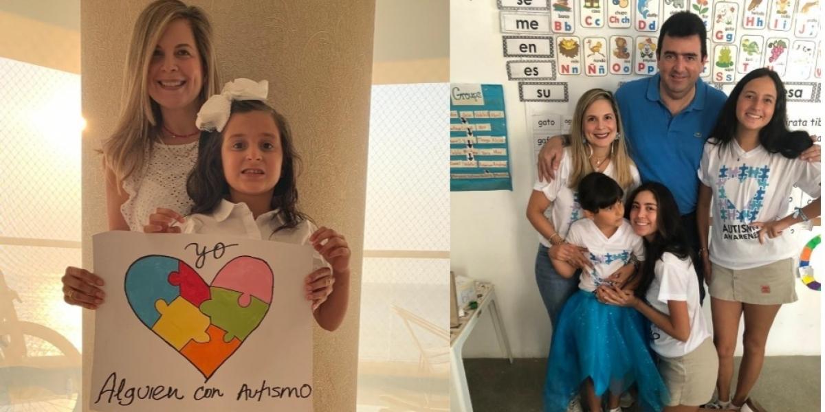 Celia Martínez, su esposo William Elías y sus hijas: Anasofía, Angie y Andrea