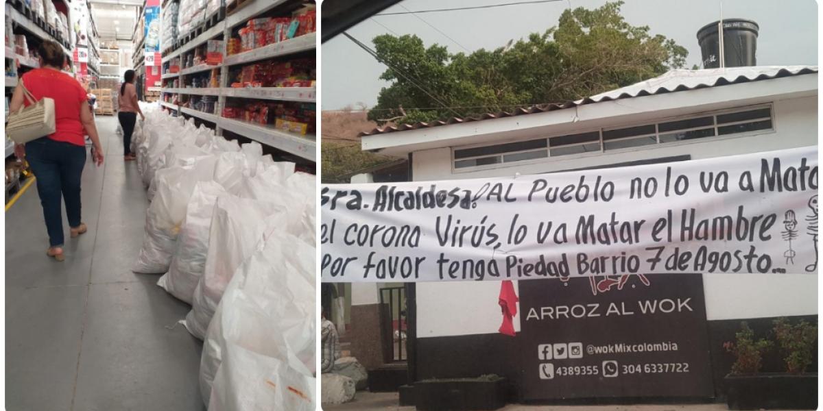 Mientras el pueblo clama por hambre, la Alcaldía firmó un contrato pero no se sabe para cuántos mercados.