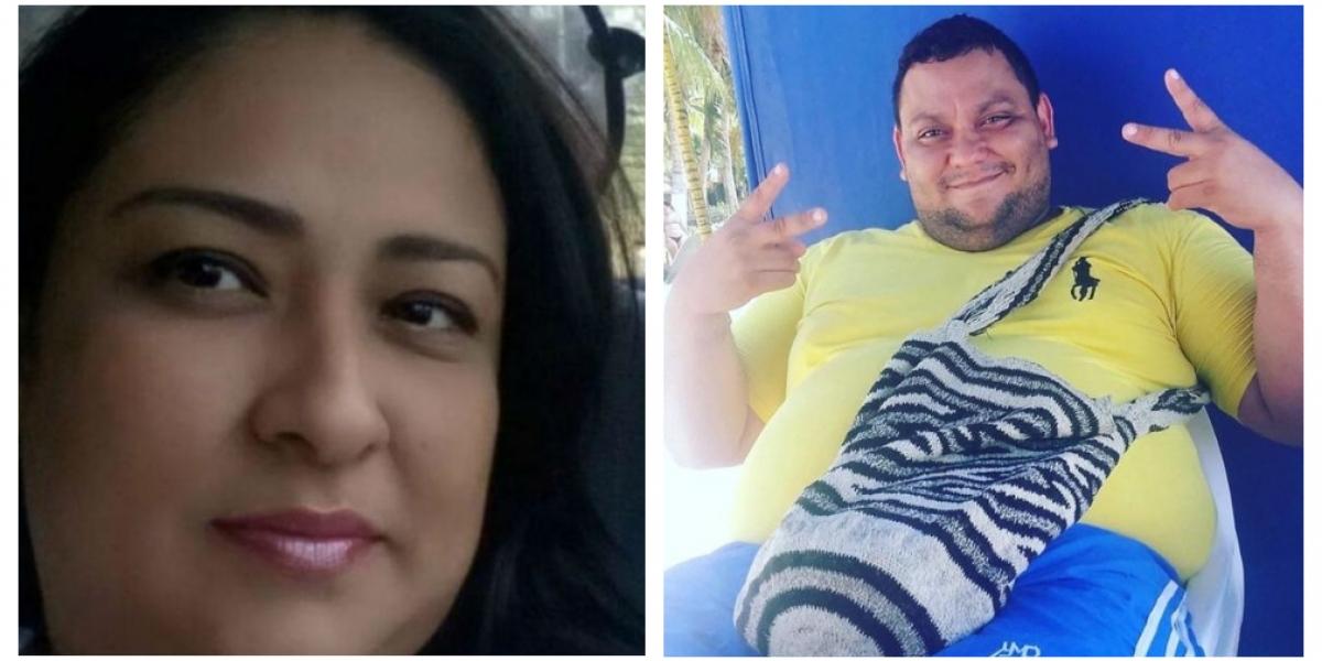 Alexis Panetta, esposa de Danny Cardona, quien murió hace tres semanas y no fue reportado como fallecido por coronavirus.