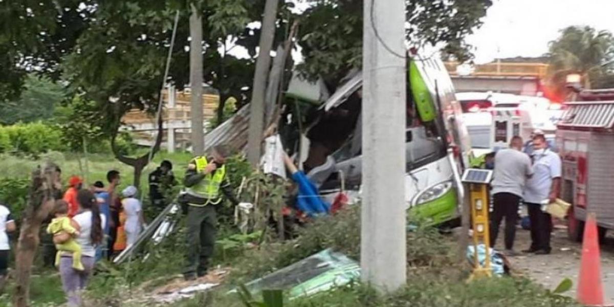 Accidente de bus en Valle del Cauca.