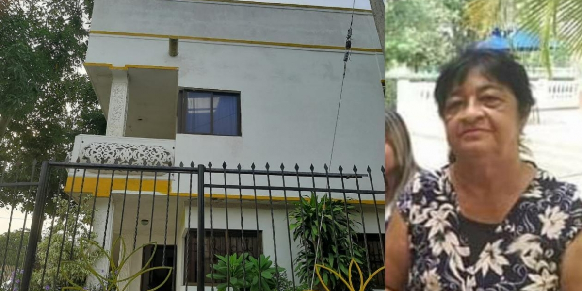 Candelaria Acendra Salcedo residía en esta vivienda en Santo Tomás.