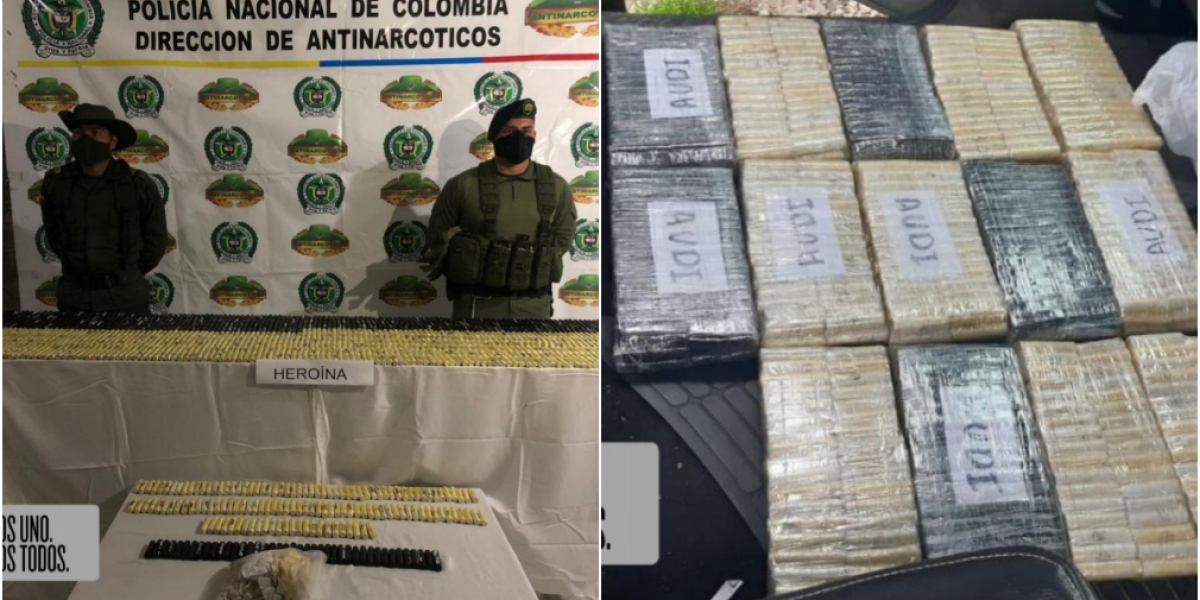 Esta droga pertenecería al Zar de la heroína en Nariño, Ebelio García o alias 'Ebelio'.,