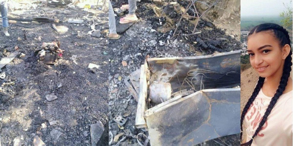 Incendio de vivienda en La Gran Vía