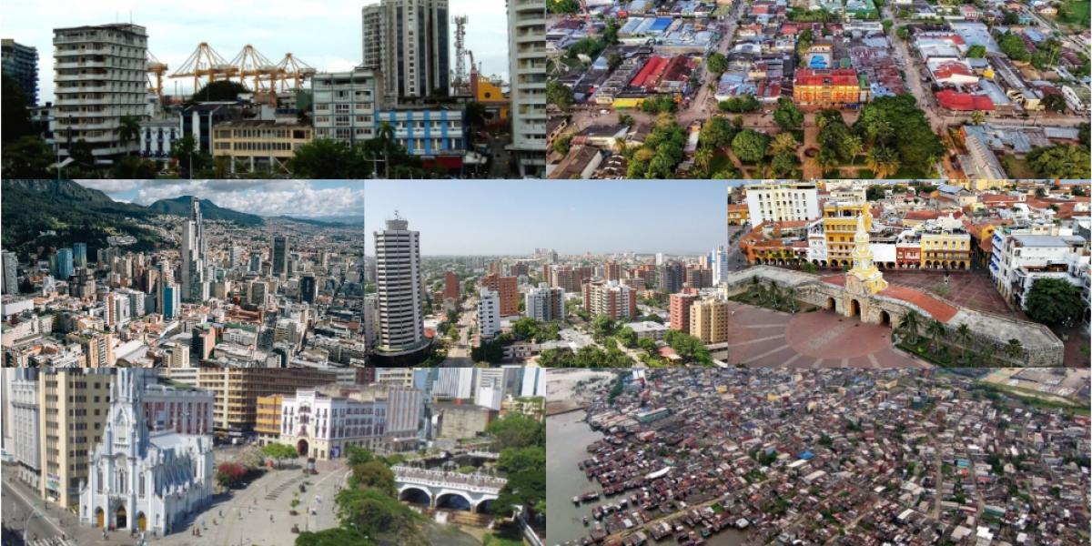 Bogotá, Cali, Cartagena, Leticia, Buenaventura, Barranquilla, Tumaco.