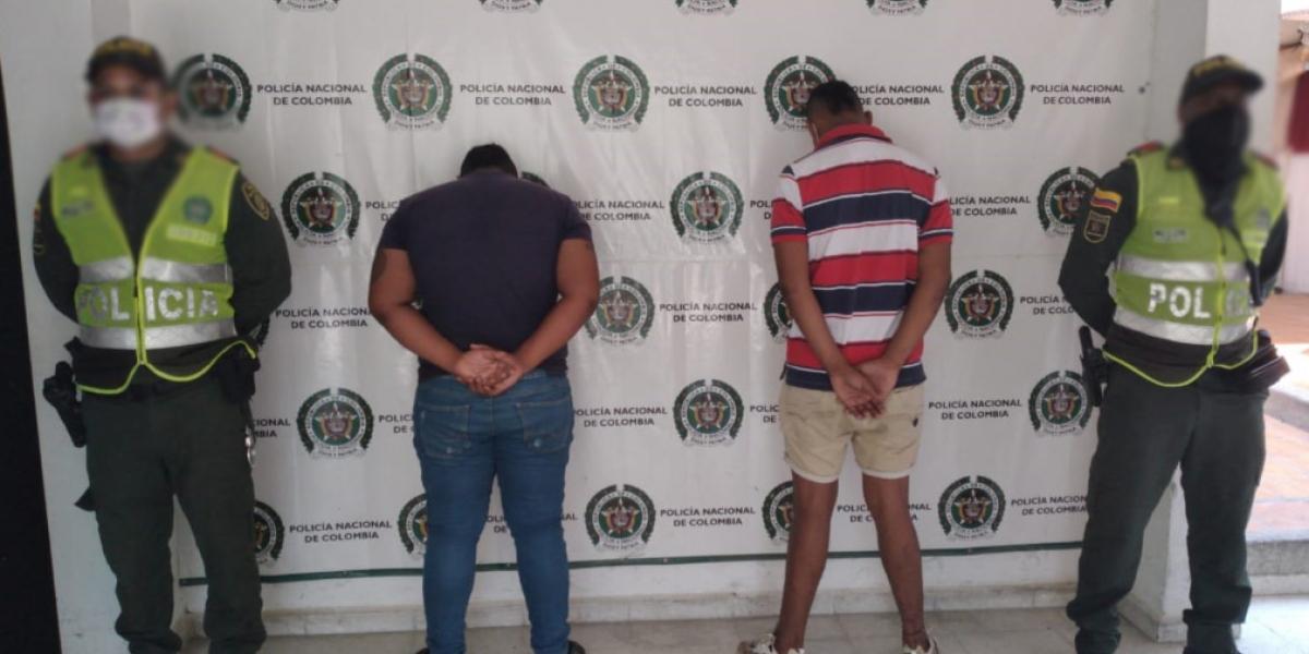 Los menores fueron capturados en la entrada a Fundación.