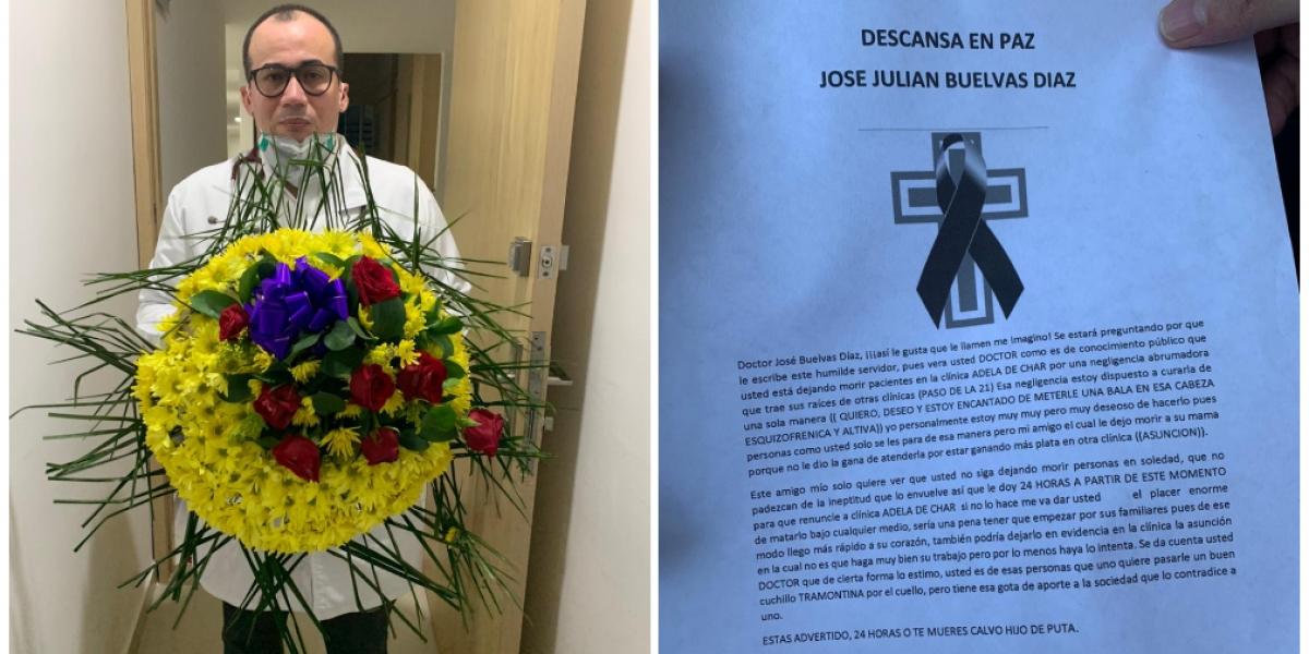 Médico salva vidas del covid-19 en Soledad y le responden con amenaza de muerte