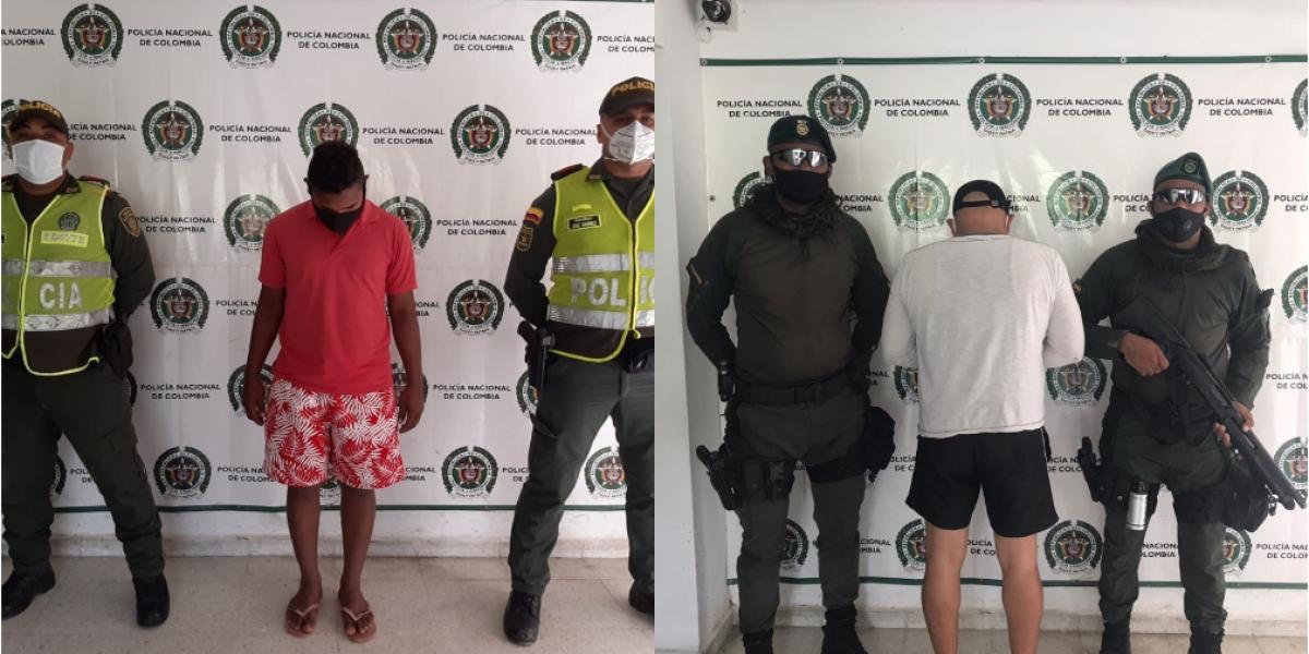 Los capturados fueron dejados a disposición de las autoridades solicitantes por los delitos que se les imputan.