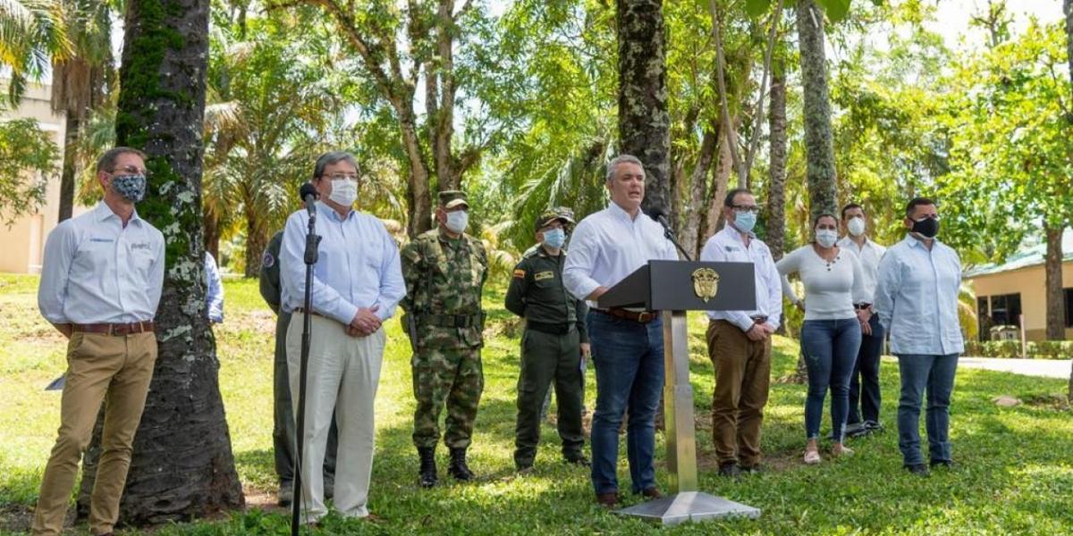 Presidente Iván Duque entregó detalles de la captura de los cuatro ciudadanos venezolanos.