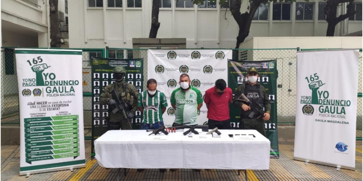"""Según las autoridades con estas capturas le dan un duro golpe a la estructura del Grupo Delincuencial Organizado """"Los Pachenca'."""
