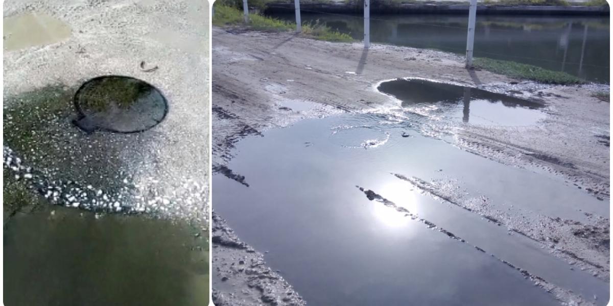 Permanente desbordamiento de aguas negras en Lagos del Dulcino.