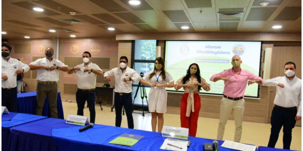 Durante la firma del convenio el contralor Carlos Cabas Rodgers hizo un reconocimiento público a la Universidad del Magdalena