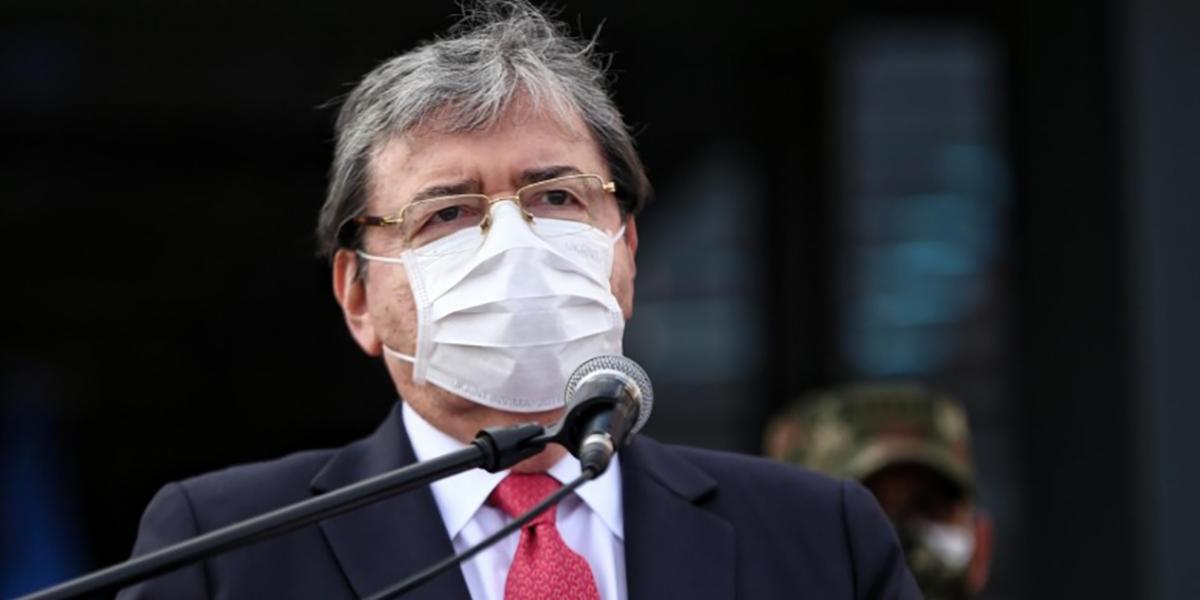 El Ministro de Defensa, Carlos Holmes Trujillo, dio positivo para Covid-19 tras una visita en Santa Marta.
