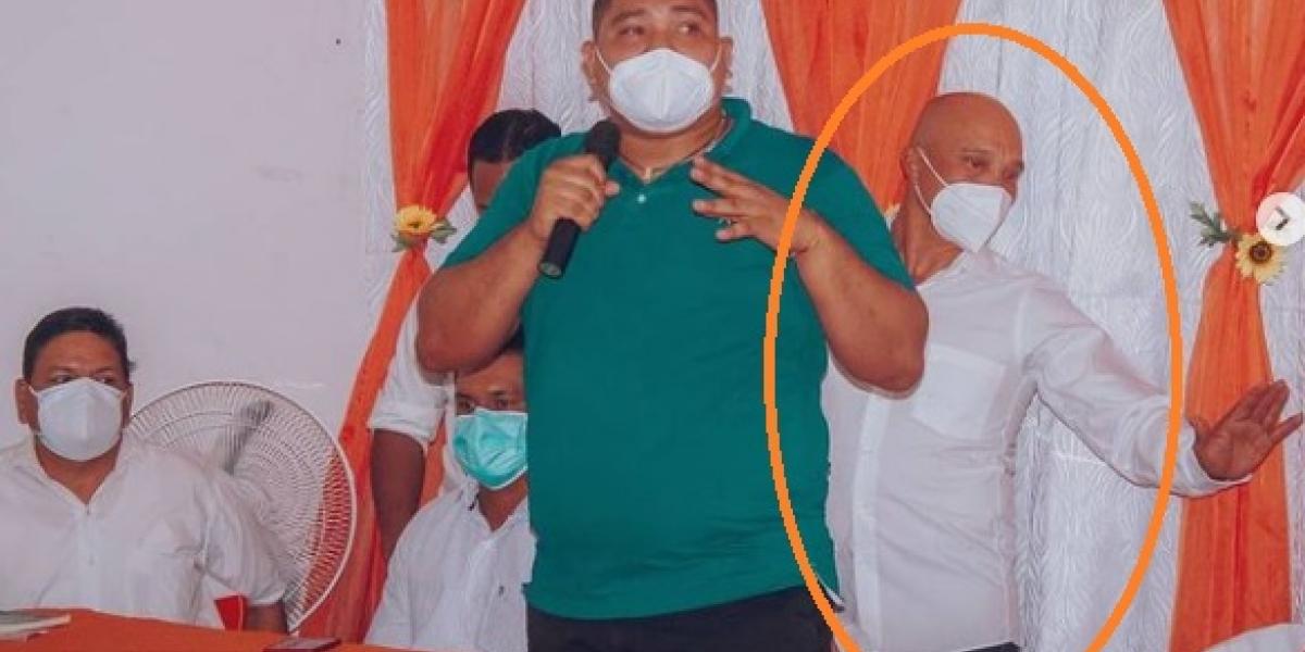 Fredy Mejía de la Cruz es la persona cobijada con casa por cárcel, quien asistió al evento político del caicedismo.