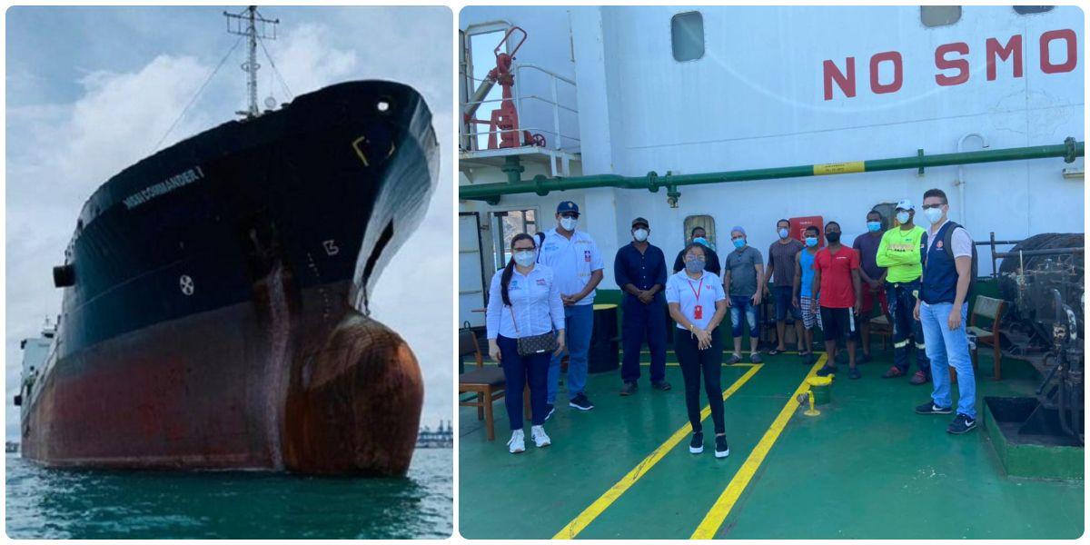 Nissi Commander I está fondeado en Santa Marta desde el 4 de enero.