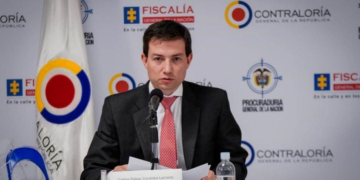 El Contralor de la República, Felipe Córdoba.