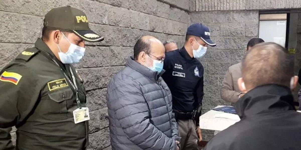 Jorge 40 en momentos en que volvió extraditado a Colombia tras pagar condena en Estados Unidos.