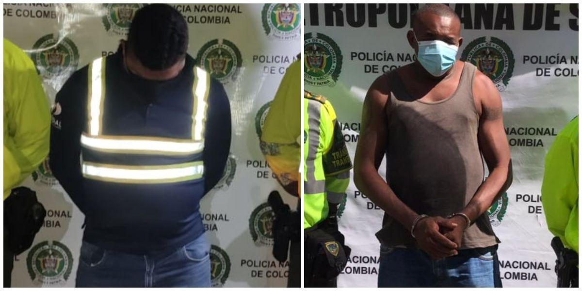 Estos fueron dos de los Culebreros, capturados por la Policía.