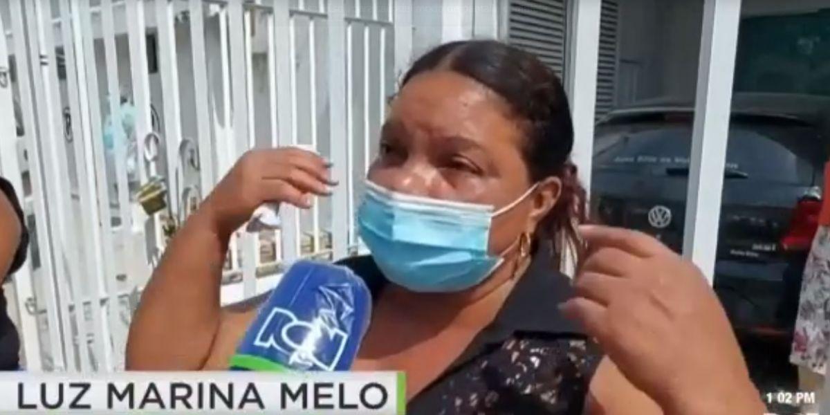 Luz Marina Melo, afectada por la confusión de los cuerpos.