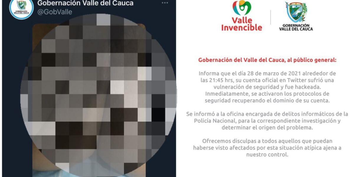 La Gobernación asegura que la cuenta fue hackeada.