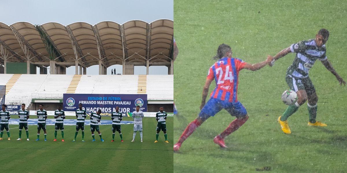 Unión lo ganaba, pero Valledupar terminó igualando el cotejo.
