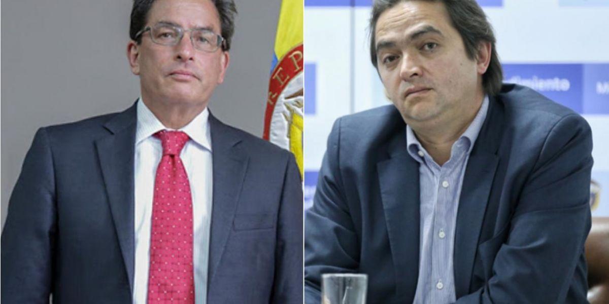 Alberto Carrasquilla y Juan Alberto Londoño.