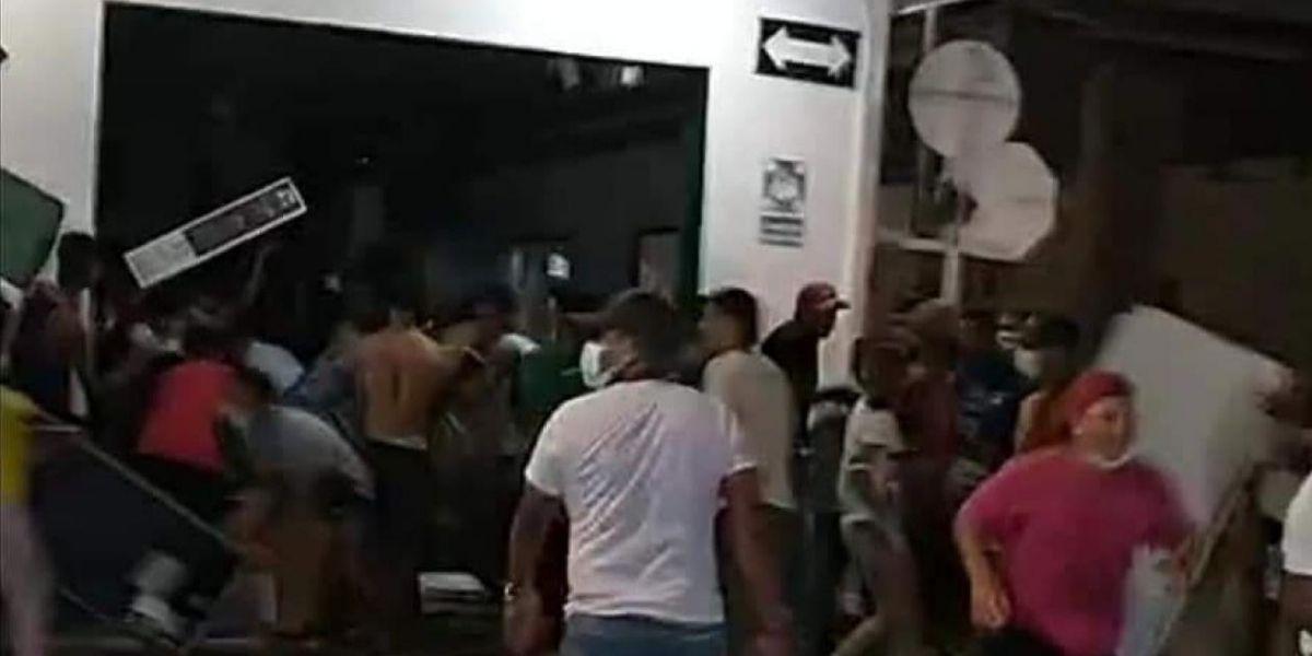 Vandalismo en Ciénaga.