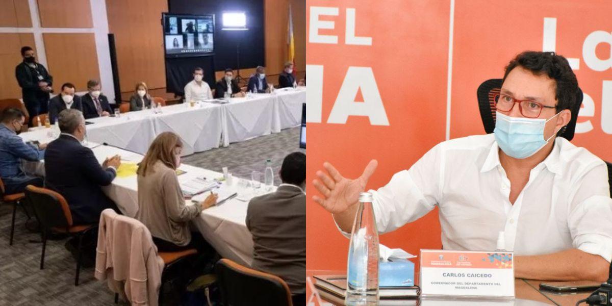 La reunión contó con los mandatarios departamental a excepción de Caicedo.