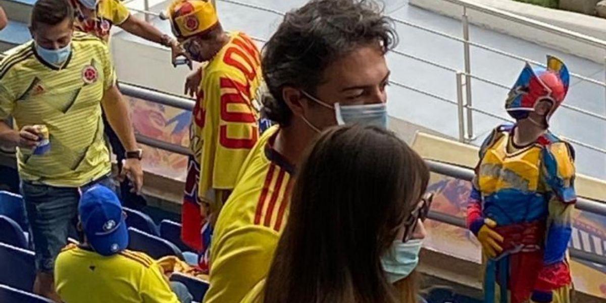 Daniel Quintero en el estadio.