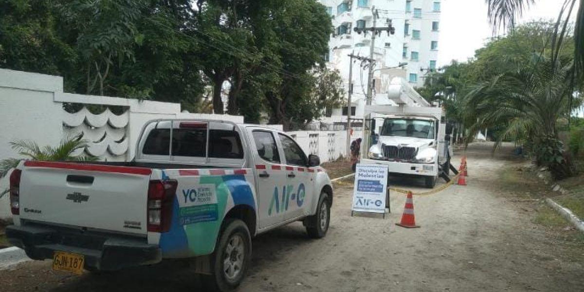 Labores de mantenimiento en el sur de Santa Marta.