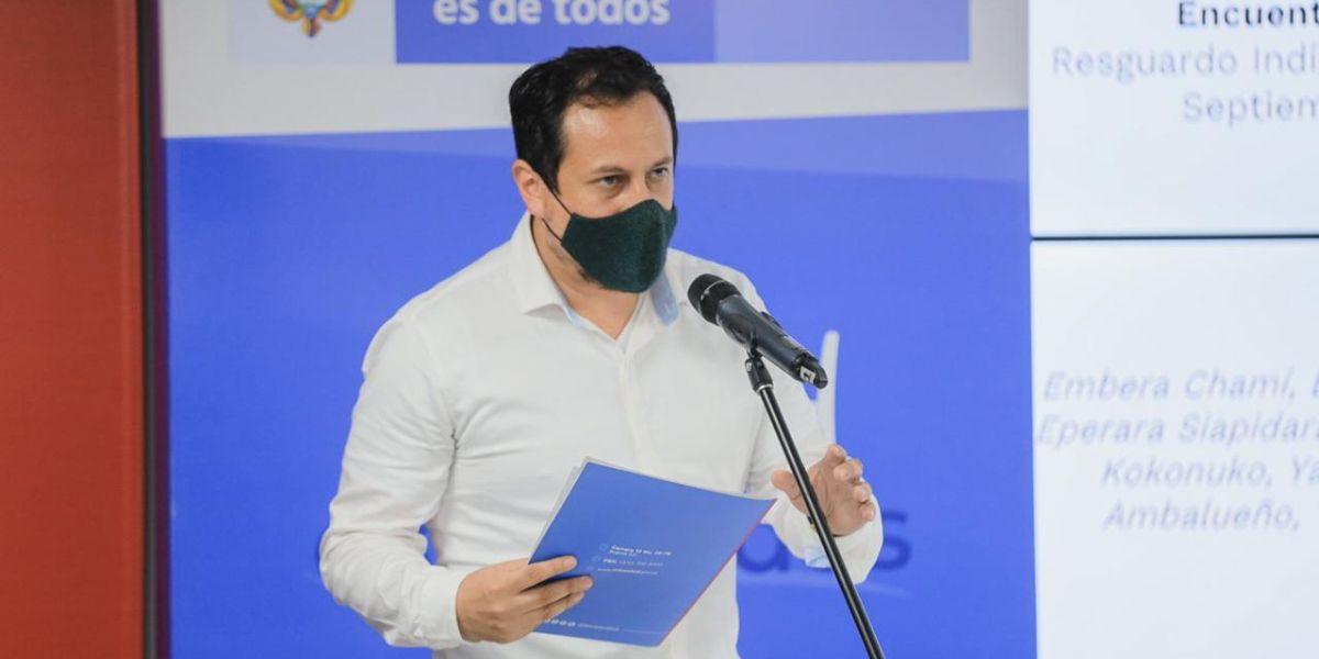 El director de Epidemiología y Demografía del Ministerio de Salud y Protección Social, Julián Fernández.
