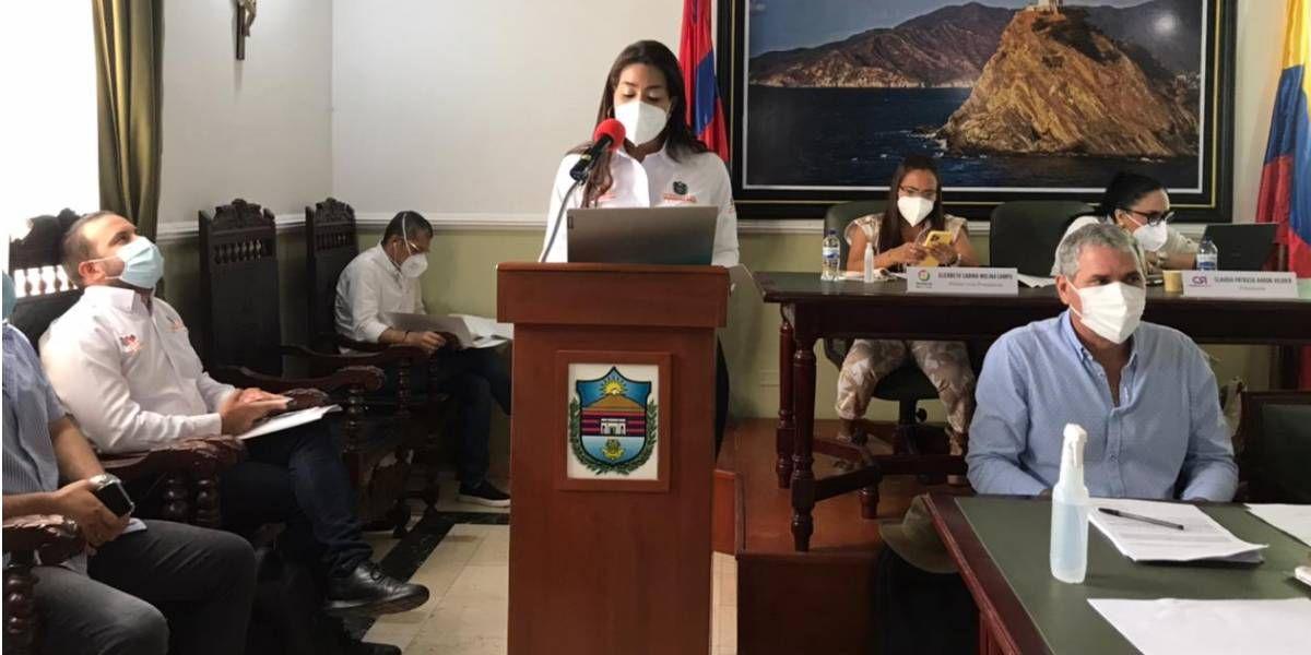 Diana Celedón en la Asamblea.
