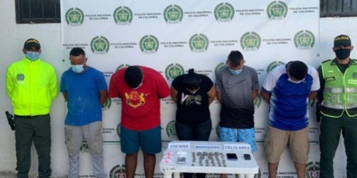 Los integrantes de este grupo delincuencial fueron puestos a disposición de la Fiscalía.