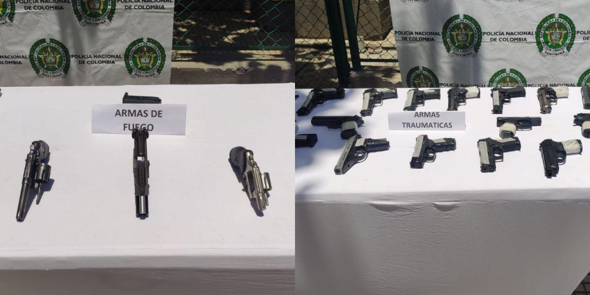 Ofensiva contra el tráfico local de armas de fuego y traumáticas.