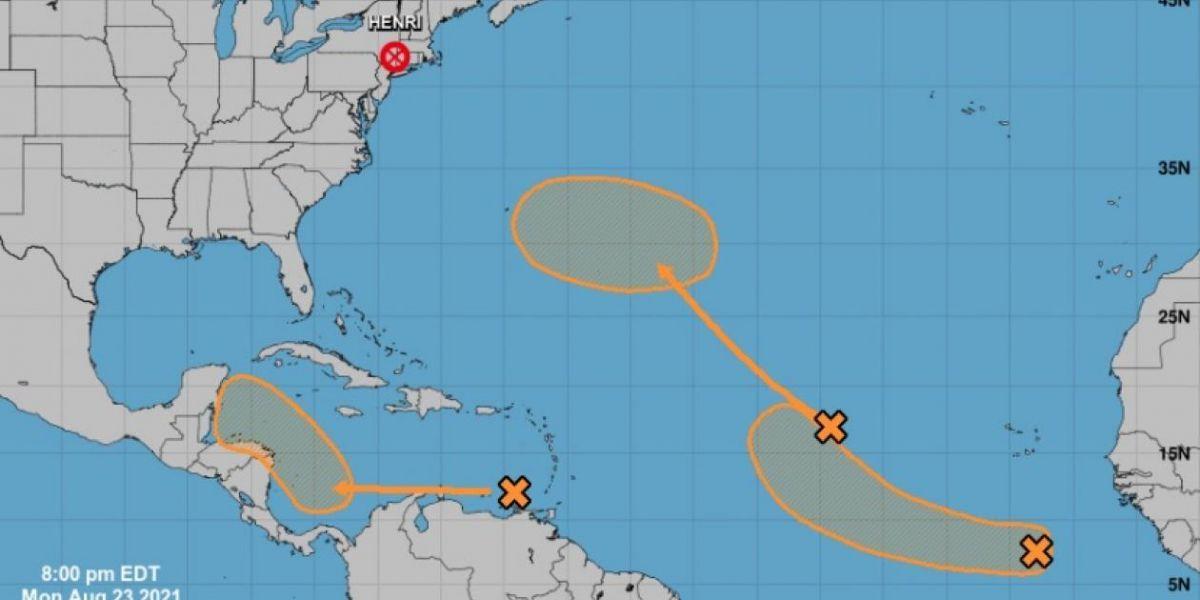 Trayectoria de la onda tropical.