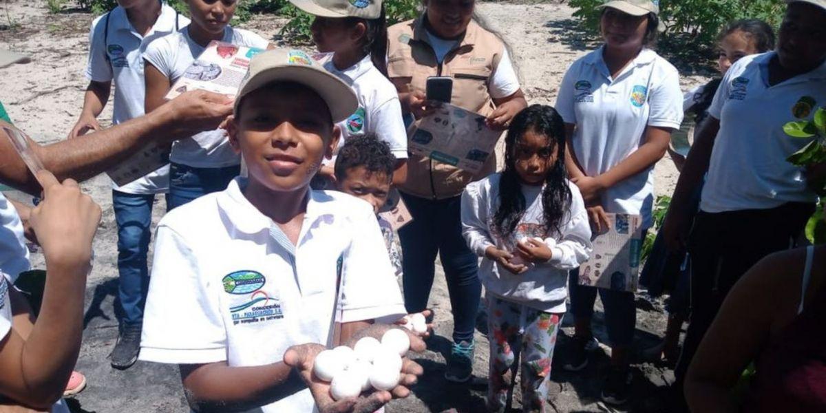 Taller de educación ambiental en Corpamag.