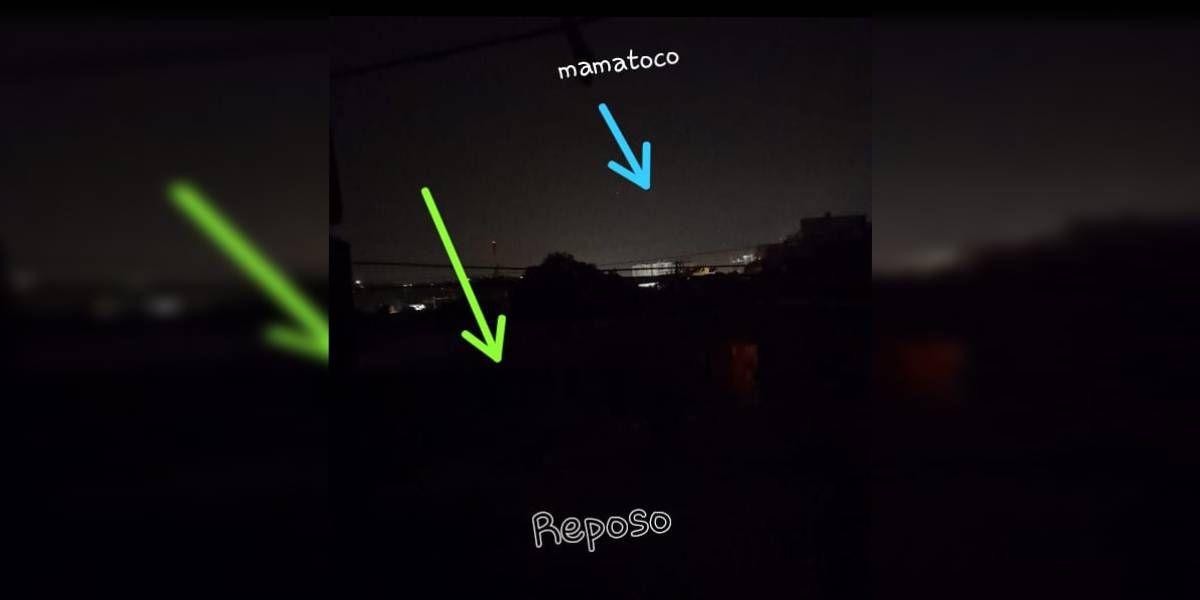 El corte de energía en Reposo aún no había sido superado a las 9:30 de la noche.