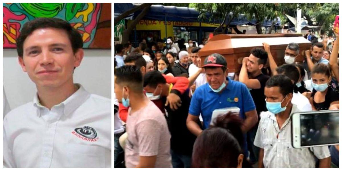 Hoy se llevó a cabo el sepelio de algunas de las víctimas del accidente vial.