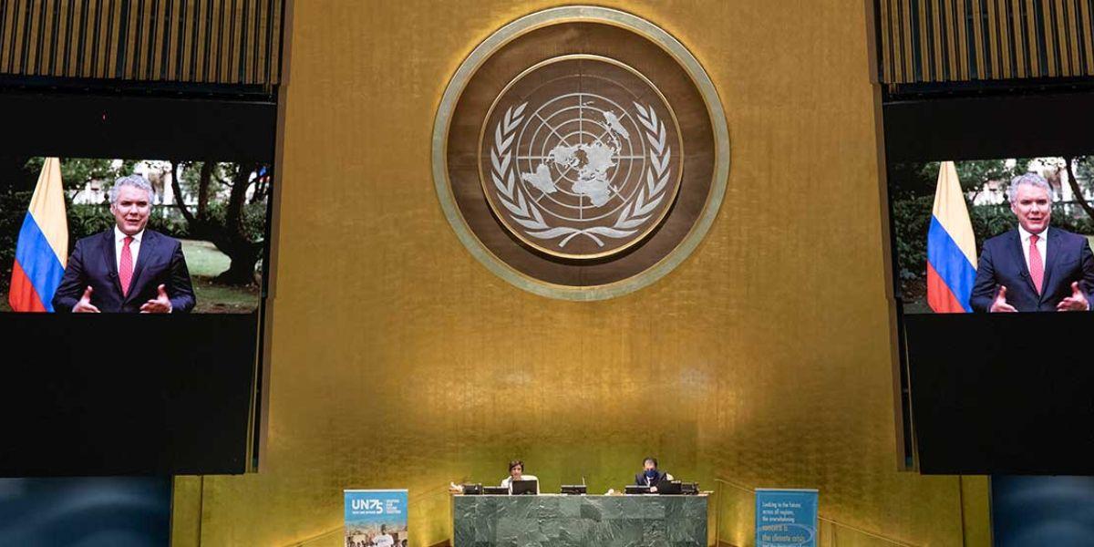 Ante la ONU, Duque convoca al mundo a avanzar con equidad en la distribución de las vacunas contra el covid-19.