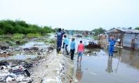 La Alcaldía de Ciénaga realizó labores de observación de los niveles en zonas altamente vulnerables