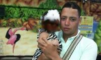 Johan David Rodríguez Vega padre de la menor.