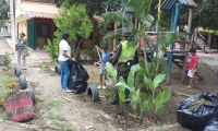 Policía Metropolitana de Santa Marta, desarrollando la iniciativa 'Recupera tu parque'