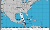 Cruza sobre la isla de San Andrés, avanza sobre el Caribe con rumbo a Nicaragua.